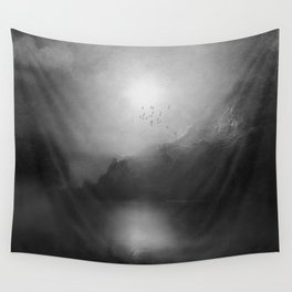 Black and White - Poesia Wall Tapestry