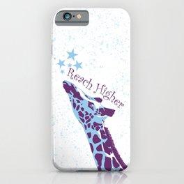 Giraffe Reach Higher iPhone Case