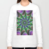 striped Long Sleeve T-shirts featuring Striped tentacles by David Zydd - Colorful Mandalas & Abstrac
