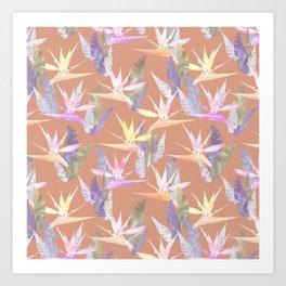 Birdie Tropical Blush Art Print