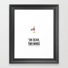 Two Wings Framed Art Print