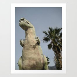 T Rex in the Desert Art Print