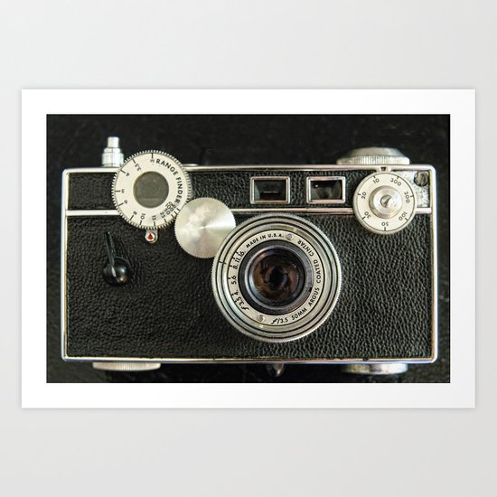 Vintage Range finder camera. Art Print