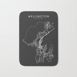 Wellington, New Zealand Street Map Bath Mat