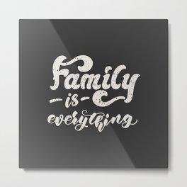 family poster Metal Print