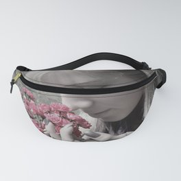 Young girl and flowers Fanny Pack