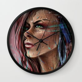 Willow's Determination Wall Clock