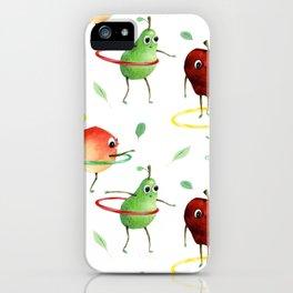 Hula Hooping Fruit Pattern iPhone Case