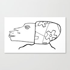 #headsbyamos #002 Canvas Print