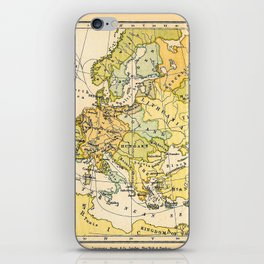 Europe During The 14th Century - Vintage Map iPhone Skin