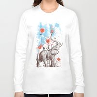threadless Long Sleeve T-shirts featuring A Happy Place by Norman Duenas
