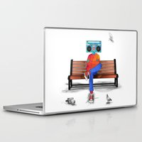 radiohead Laptop & iPad Skins featuring Radiohead by Amarelle07