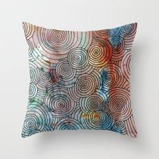 Circles, Water, & Color Drawing Meditation Throw Pillow