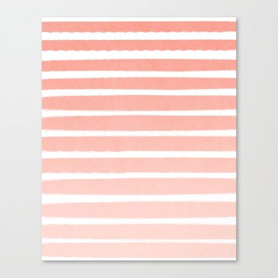 Stripes minimal ombre pattern basic nursery office dorm canvas wall art Canvas Print