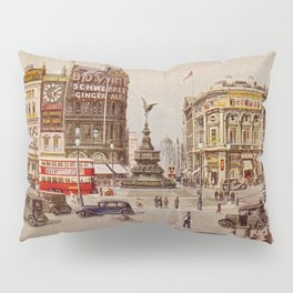 Vintage Piccadilly Circus London Pillow Sham