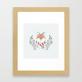 Holiday Fox Framed Art Print
