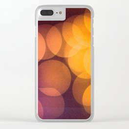 Retro Christmas Lights Bokeh Clear iPhone Case