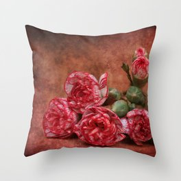 Carnation flowers Throw Pillow