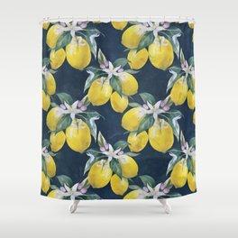Lemons pattern Shower Curtain