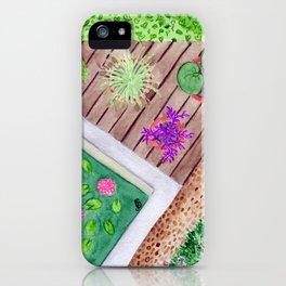 Um canto no jardim iPhone Case