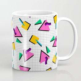 90's Geometric Print Coffee Mug
