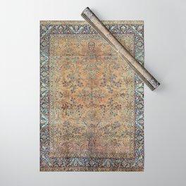 Kashan Floral Persian Carpet Print Wrapping Paper