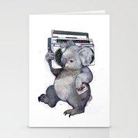 koala Stationery Cards featuring koala  by Laura Graves