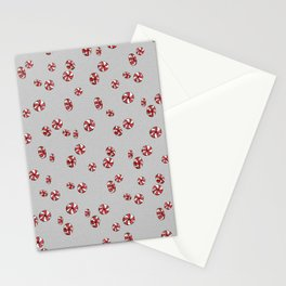 Peppermint Candy in Grey Stationery Cards