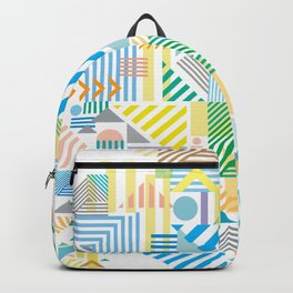 Geometric Mountain Landscape Backpack