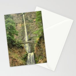 MULTNOMAH FALLS - COLUMBIA GORGE WATERFALL - OREGON Stationery Cards