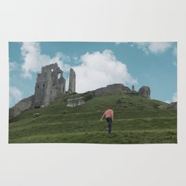 Corfe Castle and the Sky medieval Rug