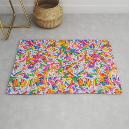 Dessert Rainbow Sprinkles Pattern Rug