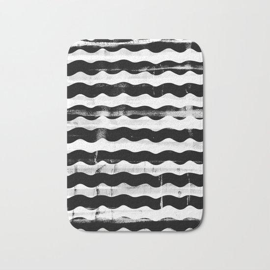 Black Waves Bath Mat