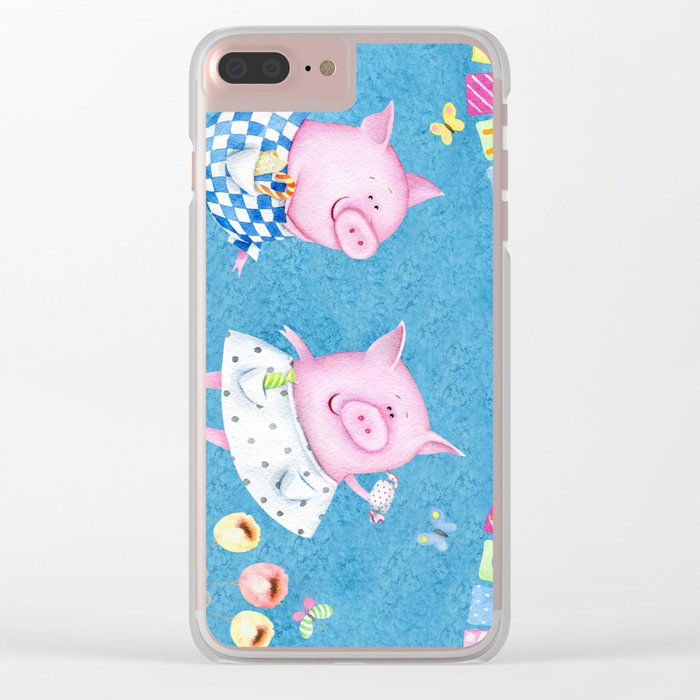 Happy Days Clear iPhone Case