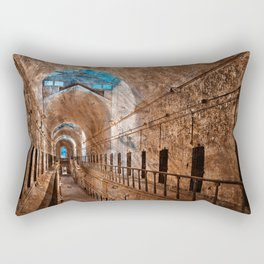 Prison Corridor - Sepia Blues Rectangular Pillow