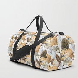 woodland animals pattern Duffle Bag