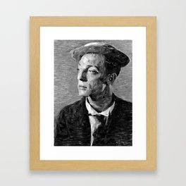 Hollywood - Buster Keaton Framed Art Print
