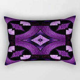 Stained Glass Collection III Passionate Purple Rectangular Pillow