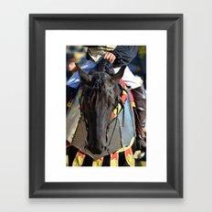 Jousting Horse - Portrait with Rider Framed Art Print