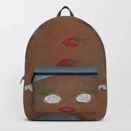 Gingerbread Man, oil painting by Luna Smith, LuArt Gallery, cookie Backpack