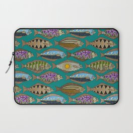 Alaskan halibut teal Laptop Sleeve