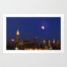 Empire Night Skyline Art Print