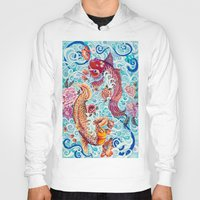 koi fish Hoodies featuring Koi Fish by Art by Risa Oram