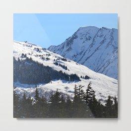 Back-Country Skiing  - I Metal Print
