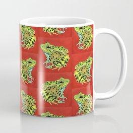 Spotted Frog Friend Pattern Coffee Mug