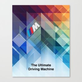 BMW Art Print - Ultimate Driving Machine Abstract M3 M4 M5 M6 X5 Poster M Sport Power Z Coupe Roadst Canvas Print