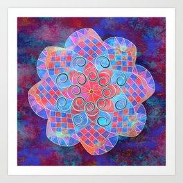 Colourful Mandala Art Print