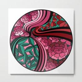 Floral Unity Metal Print