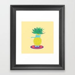 Pineapple Ellie Framed Art Print