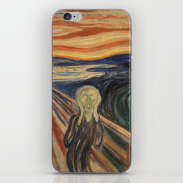 The Scream, Edvard Munch, classic painting iPhone Skin